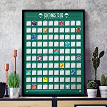 100 Things to Do Bucket List Scratch Poster