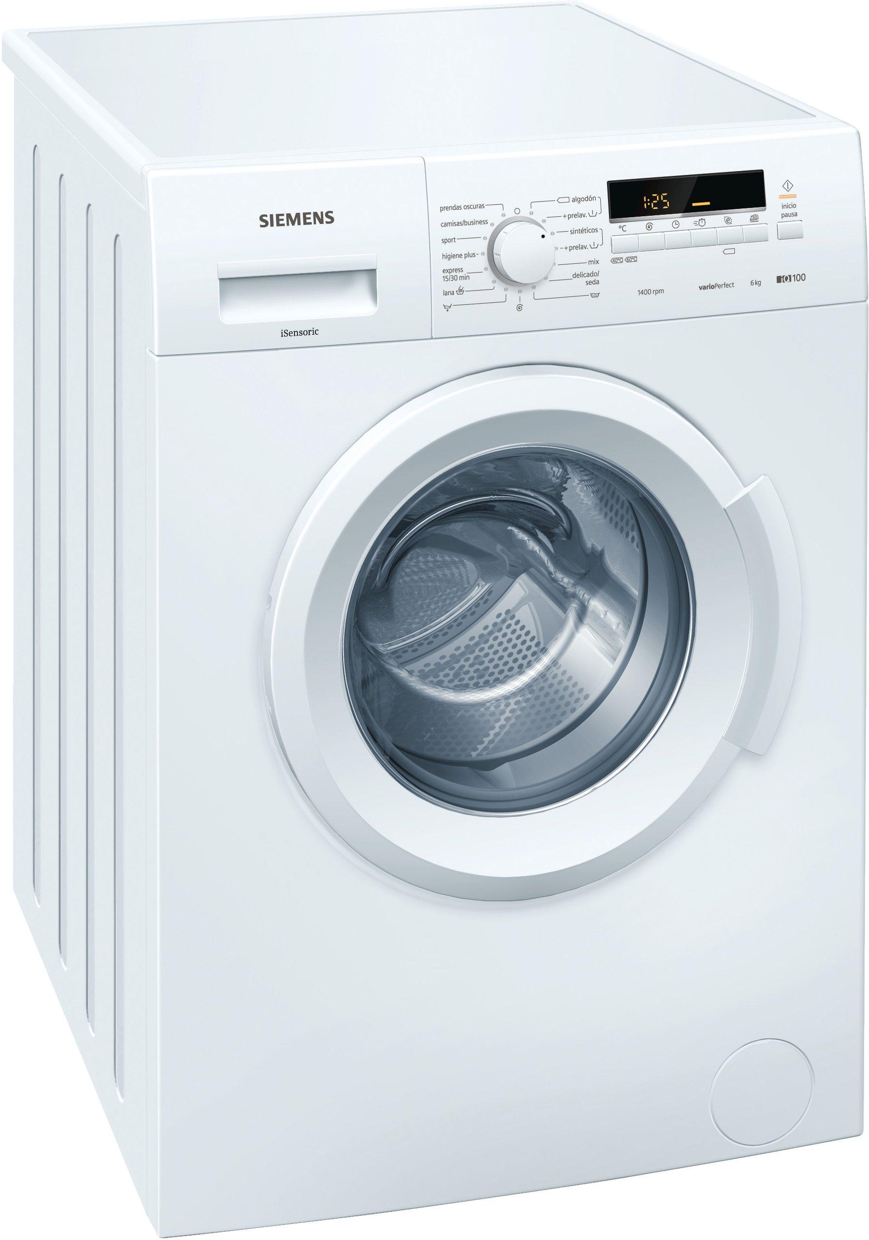 Siemens iQ100 Independiente Carga frontal 6kg 1400RPM A+++ Blanco ...