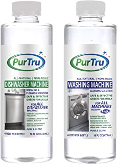 Dishwasher and Washing Machine Cleaner 2 (Pack) – All-Natural Non-Toxic and Safe Descaling & Cleaning Solution for All Types of Dishwashers and HE and Non HE Washers
