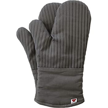 Big Red House Oven Mitts, with The Heat Resistance of Silicone and Flexibility of Cotton, Recycled Cotton Infill, Terrycloth Lining, 480 F Heat Resistant Pair Grey