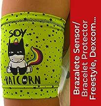 IKOOKI Abbott Freestyle Libre - Dexcom G4 G5 G6 - Guardian Sensor - Omnipod - Brazalete Protector del Sensor De Glucosa - Flexible Cómodo y Reutilizable - Color Batcornio – Talla 14