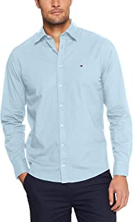 Tommy Hilifiger Men's Classic Shirt, Blue/Bright White, XX-Large