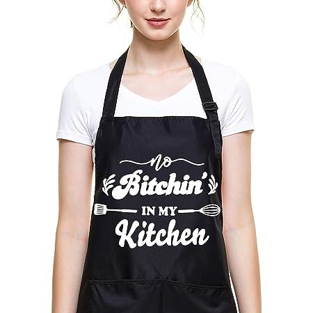 Funny Baking Apron Wild Unicorn \u2013 Novelty Cooking Chef Gift For Men \u2013 Womens Baking Gift Full BBQ Grilling Kitchen Apron