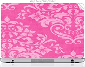 Laptop VINYL DECAL Sticker Skin Print Pink Damask Vintage Effect Pattern Background fits Compaq Presario CQ57