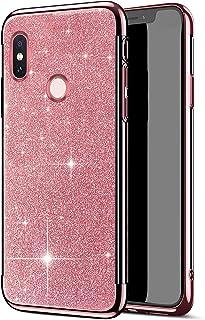 Funda Compatible con Xiaomi Redmi S2,Carcasa Case Transparente Glitter Brillante Brillo Chapado 2 en 1 TPU Silicona Ligero...