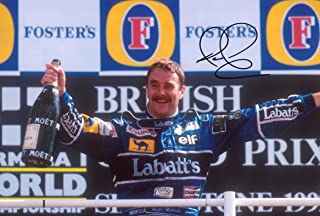 Nigel Mansell autograph British F1 Champion, In-Person signed photo