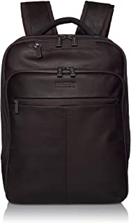 Kenneth Cole Reaction Manhattan Full-Grain Colombian Leather Laptop Backpack Slim Travel Computer & Tablet Bookbag, Brown,...