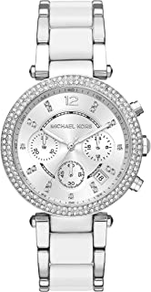 Women's Parker Acetate and Stainless Steel Watch MK6354
