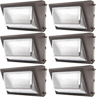 Sunco Lighting 6 Pack 80W LED Wall Pack, Daylight 5000K, 7600 LM, HID Replacement, Waterproof IP65, 120-277V, Bright Consi...