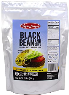 Vegan Burger (18 Serving Bag): B.B. & Ohh! Black Bean and Olive Mix - Long Term Storage 10+ Years