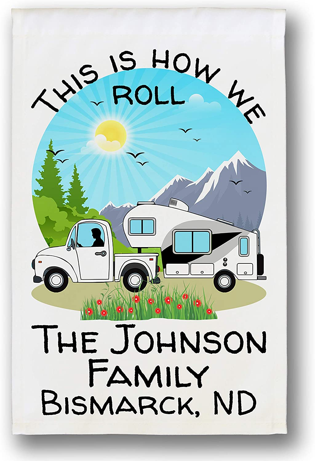 White Truck and Clearance SALE! Limited time! 5th Wheel Themed Ranking TOP20 Camping Garden Fla Personalized