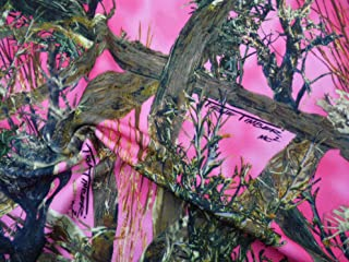 Printed Liverpool Textured True Timber MC2 Pink Camouflage Fabric K206