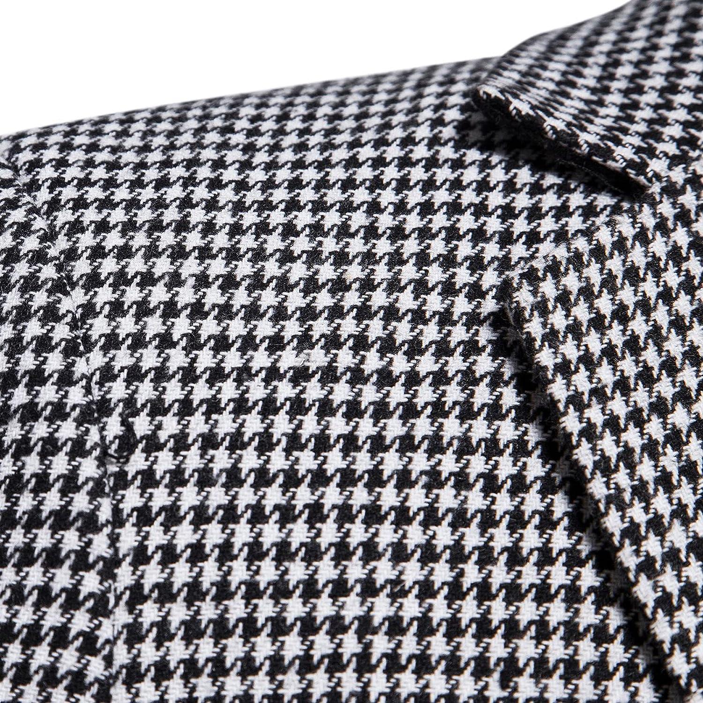 Men's Casual Solid Stripe Single Button Blazers Lapel Collar Pocket Suit Coat