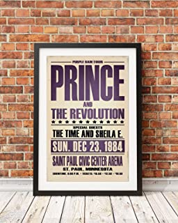 Prince Concert Poster: 1984 Purple Rain Tour (Print Only)