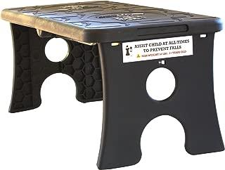 Tip Pee Toe Portable Folding Child Step Stool, Black