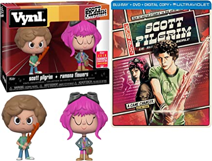 Ramona Flowers Game Changer 2-Pack Scott Pilgrim (vs. the World) Exclusive Steelbook Blu-Ray DVD + Pop vynl figure Set