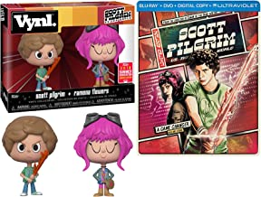 Ramona Flowers Game Changer 2-Pack Scott Pilgrim (vs. the World) Exclusive Steelbook Blu-Ray DVD + Pop vynl figure Set
