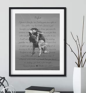 Personalized Song Lyrics Gifts with Your Photo, Black Frame Available, Birthday Gift for Girlfriend