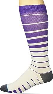 Prestige Medical Fashion Compression Socks, Purple Stripes, 2.5 Ounce