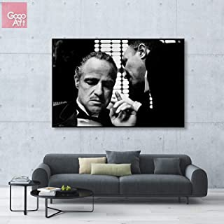 GoGoArt ROLL Canvas Print Wall Art Photo Big Picture Poster (no Framed no Stretched not Oil Painting) Classic Movie Paramount The Godfather 1972 Vito Corleone Marlon Brando A-0250-1.5 (40 x 60 inch)