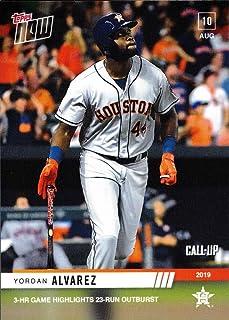 2019 Topps Now Baseball #667 Yordan Alvarez Pre-Rookie Card - 1st Career 3 Home Run Game - Only 1,070 made!