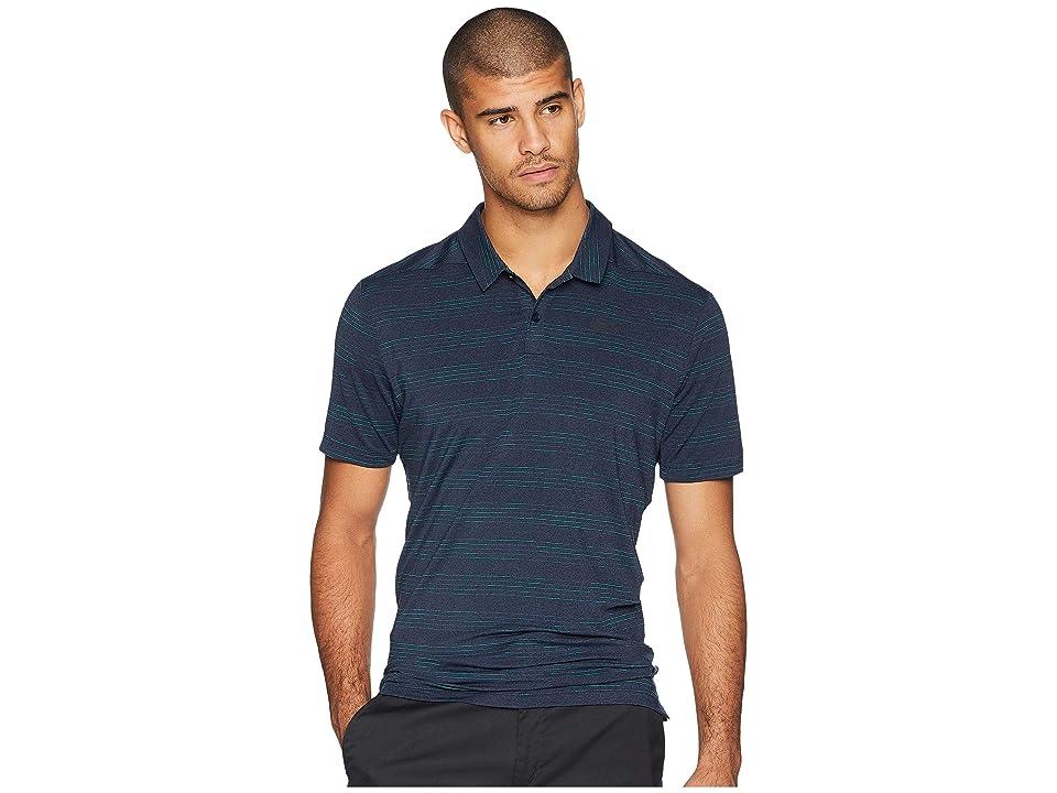 Nike Golf Dry Polo Heather Textured (Obsidian/Black/Neptune Green/Black) Men