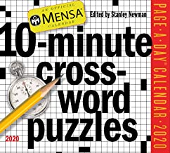 Mensa 10-Minute Crossword Puzzles Page-A-Day Calendar 2020 [5.5
