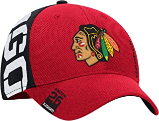 75b8139e100 Reebok Chicago Blackhawks Hat Flex Fit Draft Structured Indian Head Logo  11901