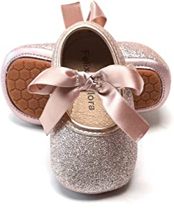 Infant Baby Girls Shoes Soft Rubber Sole Princess Dress Shoes Baby Walking Shoes(Infant/Toddler)
