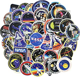 NASA Stickers Decals 45pcs Space Stickers Pack for Kids Laptop Water Bottle Helmet Bike Skateboard Vinyl