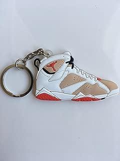 Jordan Retro 7 Hare Sneaker Keychain Shoes Keyring AJ 23 OG