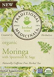 Traditional Medicinals Tea Moringa with Supermint Sage, 16 ct