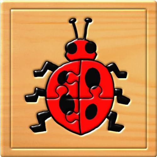 Los niños insecto rompecabezas y juegos de memoria - diversión educativa para...