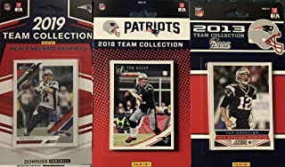 New England Patriots 3 Factory Sealed Team Set Gift Lot Including 2019 Donruss, 2018 Donruss and 2013 Score Team Sets Featuring Tom Brady, Rob Gronkowski, Julian Edelman, James White Plus