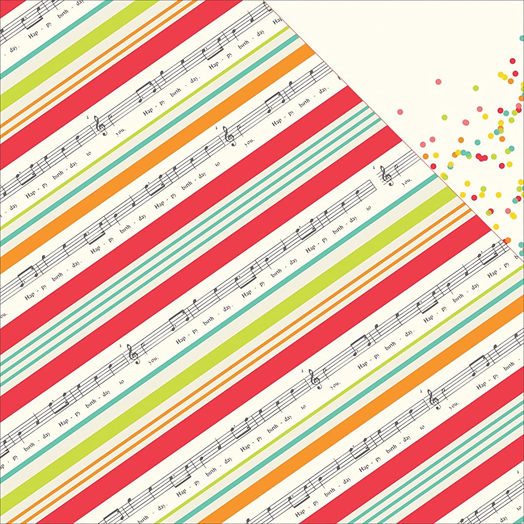 Simple Stories 5306 25 Sheet Let's Party Double-Sided Cardstock, 12