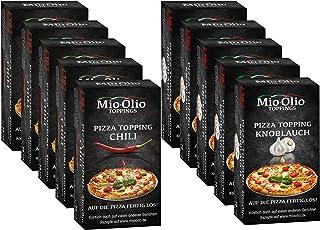 Mioolio Pizza Toppping I Gewürzöle portioniert I Bekannt aus die Höhle der Löwen I Auch zum Kochen, Braten uvm. geeignet I 50 x Chili  50 x Knoblauch