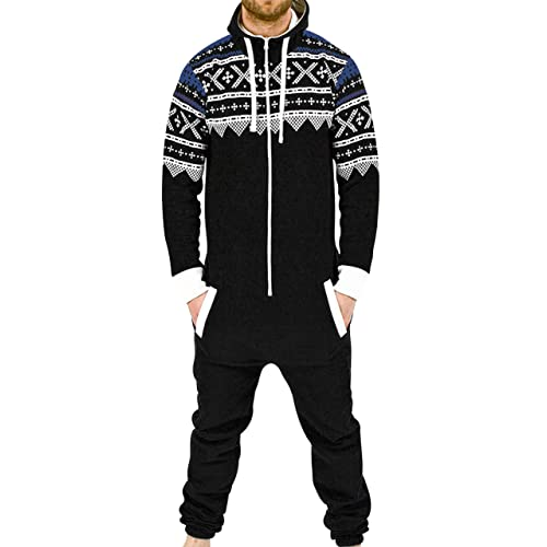 d1ff9ade59ba SKYLINEWEARS Men s Fashion Onesie Jumpsuit one Piece non Footed Pajamas