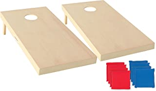 Triumph All-Wood Cornhole Set Includes Two Cornhole Boards and Eight Bags - More Sizes Available