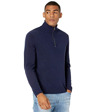 J.Crew Rugged Merino Wool Half-Zip Sweater (Navy) Men