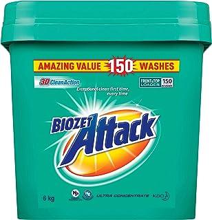 Biozet Attack Regular Laundry Powder Detergent, 6 kilograms