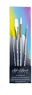 Silver Brush Silverwhite White Taklon 4Pc Watercolor Brush Set