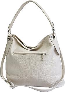 AMBRA Moda Damen echt Ledertasche Handtasche Schultertasche Beutel Shopper Umhängtasche GL012