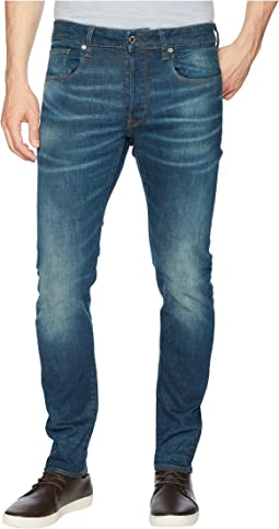 3301 Slim Jeans in Medium Aged Beln Stretch Denim