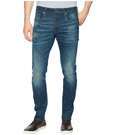 cdd4220f G-Star 3301 Slim Jeans in Medium Aged Beln Stretch Denim at Zappos.com