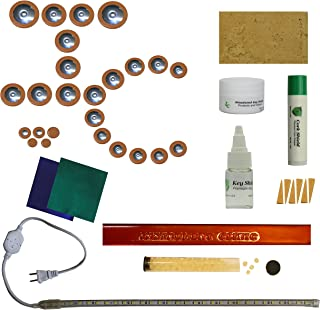 Instrument Clinic Kangaroo Leather Alto Saxophone Pad Installation Kit, with Metal Resonators, Leak Light, Please email your model