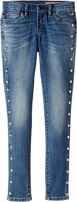Denim Skinny w/ Studding Detail in Gnarly (Big Kids)