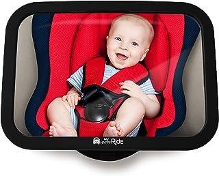 Espejo Hacia Asiento Posterior para Bebés Espejo Retrovisor Inastillable para ver al Niño/Bebé en Asiento Infantil espejo de Seguridad Fácil Instalación Efecto Antitemblor Ajuste universal