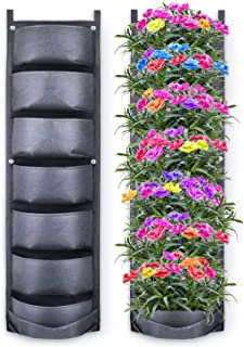 Sponsored Ad - Richoose Vertical Hanging Garden Planter with 7 Pockets, New Upgrade Waterproof Wall Mount Planter Pouch So...