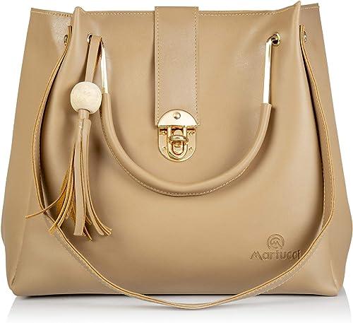 Women s Pu Cream Beige Color Shoulder Handbag
