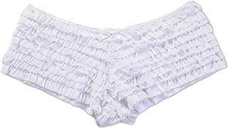 Womens Plus Size Sexy Mesh Ruffle Panties Underwear Briefs Booty Shorts